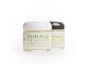 Two 2 oz Jars Forage Skincare Anti-Aging Day/Night Package