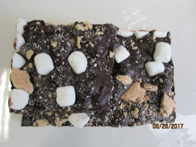 Dark Chocolate Bark - Smores