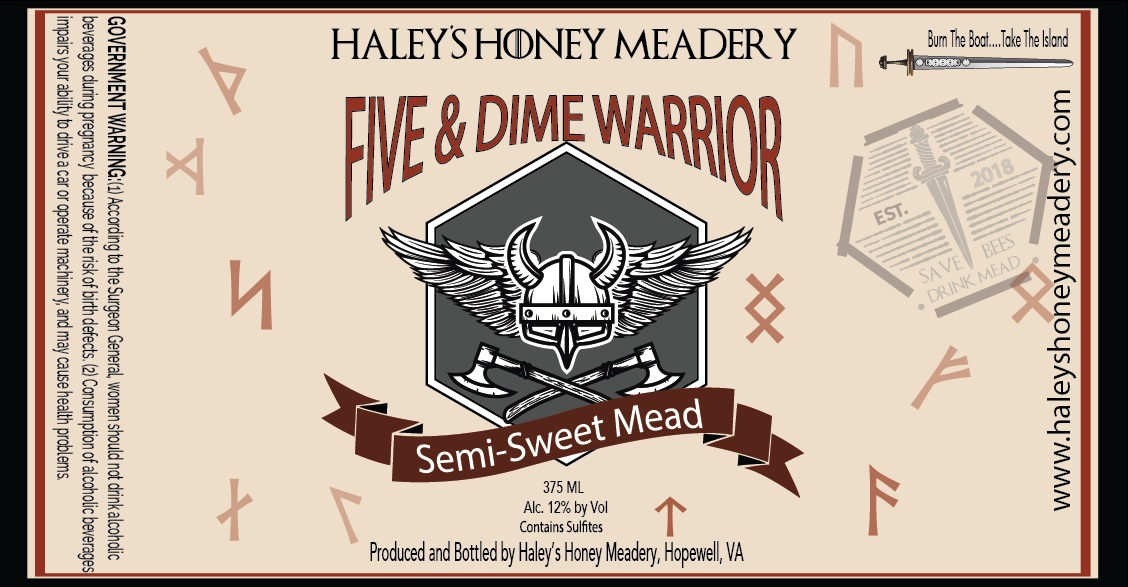 2019 Five and Dime Mead - Traditional Semi Sweet Mead