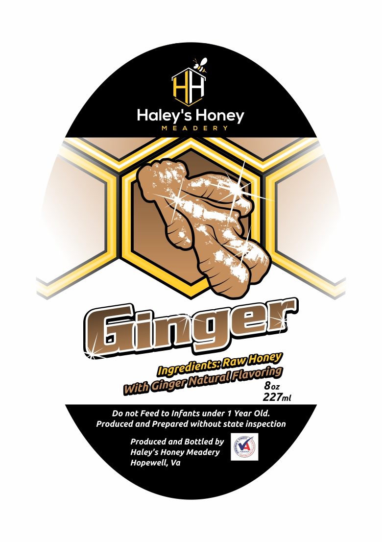 1/2 lb Ginger Honey