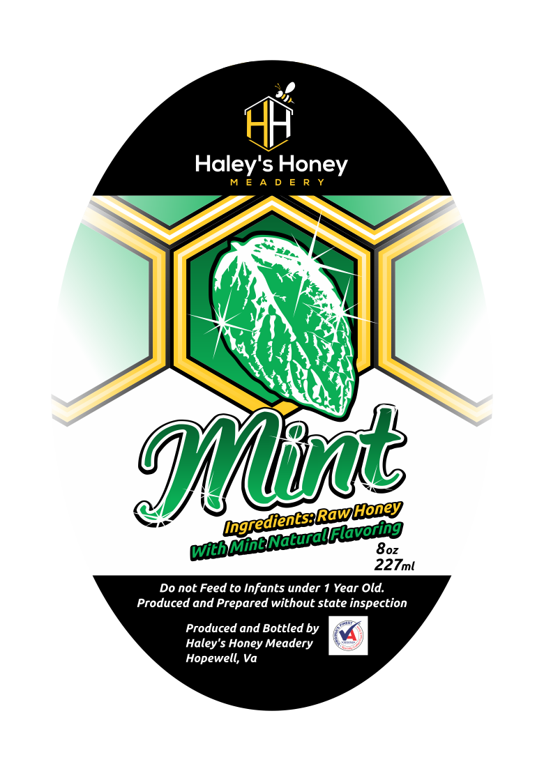 1/2 lb Mint Honey
