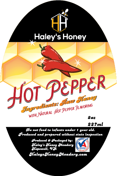 1/2 lb Hot Pepper Honey