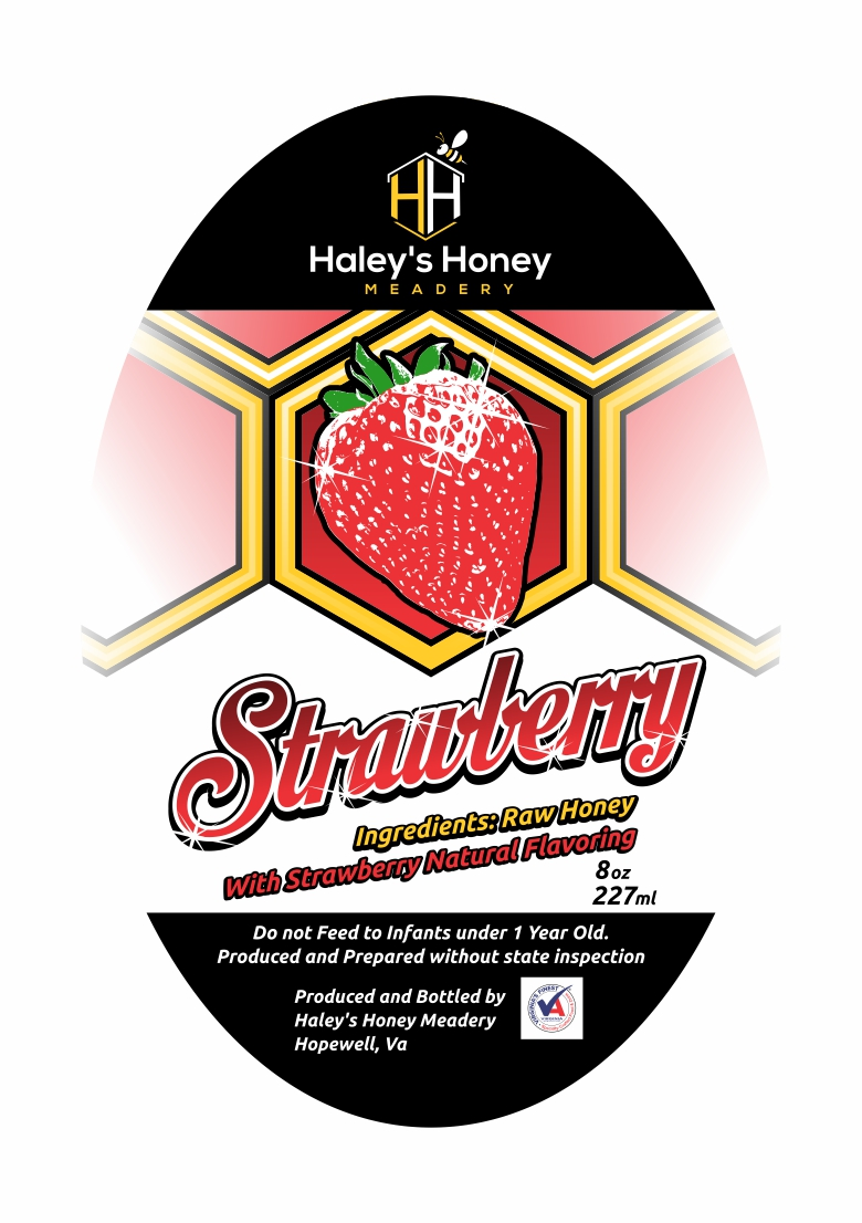 1/2 lb Strawberry Honey