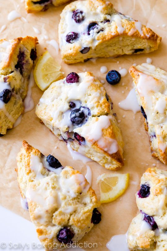 Scones – Blueberry with a Lemon Glaze 5 Pack